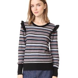 NWT Joie Cais C Multi Stripe Wool Sweater